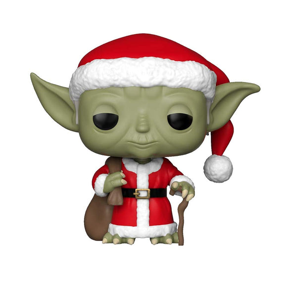 Funko Pop Star Wars: Holiday - Santa Yoda Collectible Figure, Multicolor - Garrison City Toy Work's