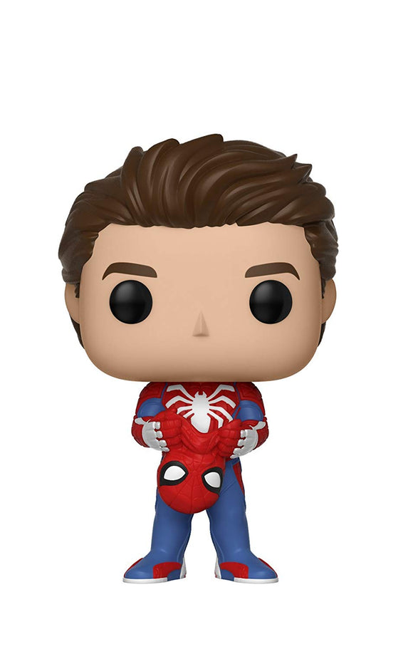 Funko Pop Marvel Games: Spider-Man Video Game - Unmasked Spider-Man Collectible Figure - Garrison City Toy Work's