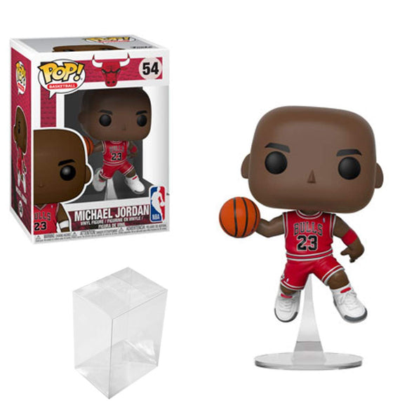 Funko POP Basketball: NBA Chicago Bulls Michael Jordan Vinyl Figure Bundle with 1 PopShield Pop Box Protector - Garrison City Toy Work's