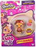 Shopkins Wild Style Kitty Crumbles Shoppet and Camilla Cat Stand - Garrison City Toy Work's