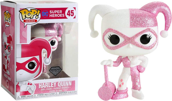 Funko Pop Heroes: DC Super Heroes - Harley Quinn Pink Diamond Glitter - Garrison City Toy Work's