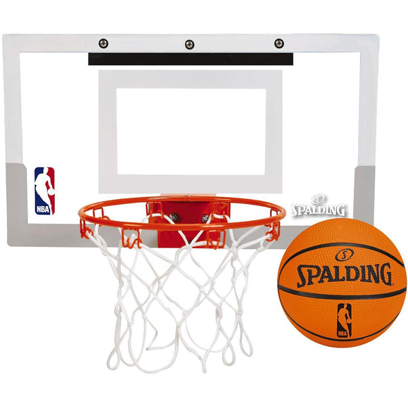 Spalding NBA Slam Jam Over-The-Door Mini Basketball Hoop - Garrison City Toy Work's