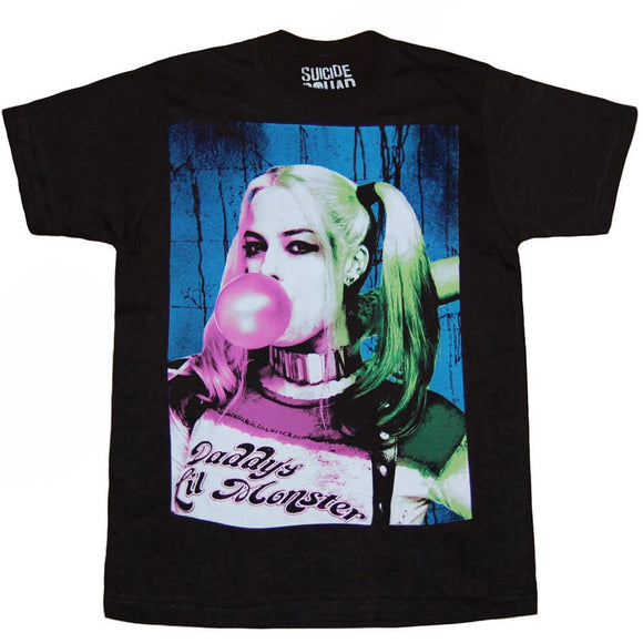 Suicide Squad Harley Quinn Bubble Gum T-Shirt-X-Large - Garrison City Toy Work's