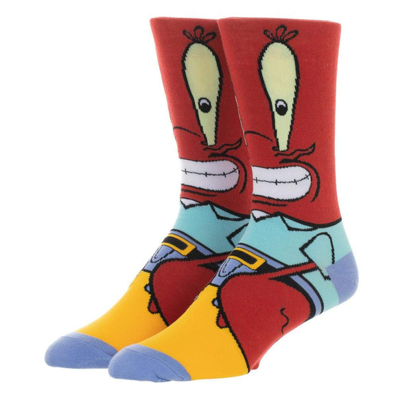 Spongebob Character Socks (Mr. Krabbs) - Garrison City Toy Work's
