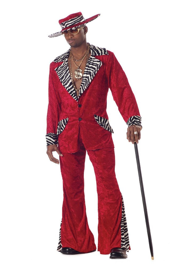 California Costumes Men's Pimp,Red,Large Costume - Garrison City Toy Work's