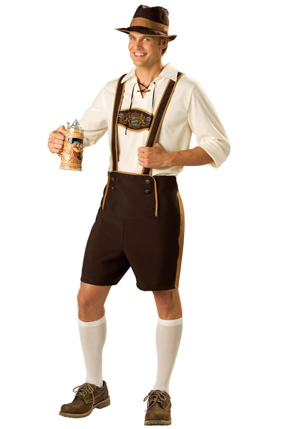 InCharacter Bavarian Guy Adult Costume-X-Large Brown - Garrison City Toy Work's