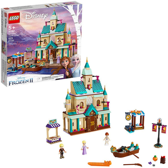 LEGO Disney Frozen II Arendelle Castle Village 41167 Toy Castle Building Set - Garrison City Toy Work's