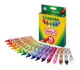 Crayola Jumbo Crayons, Assorted Colors, Great Toddler Crayons, 16Count - Garrison City Toy Work's