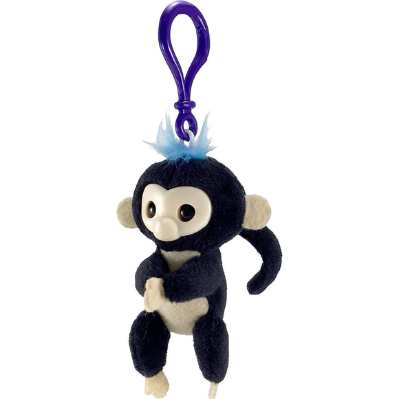 WowWee Wowee Fingerlings Plush Hugger Clip On - Monkey Key Chain, Blue, Pink, Purple, Black, White - Garrison City Toy Work's