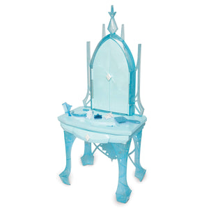 "Disney Frozen 2 Elsa's Enchanted Ice Vanity, Includes Lights, Iconic Story Moments & Plays ""Vuelie"" and ""Into the Unknown"" For Ages 3+ - Garrison City Toy Work's"