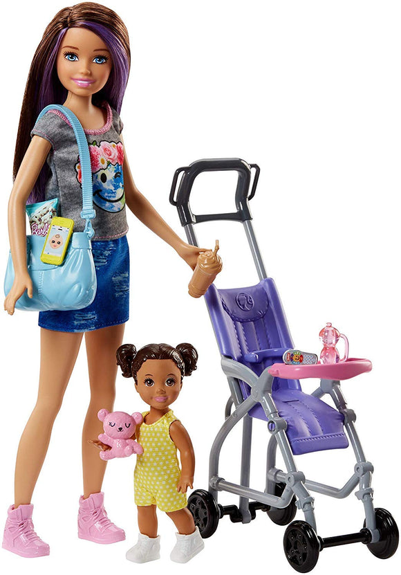 Barbie Skipper Babysitters Inc. Doll and Stroller Playset - Garrison City Toy Work's