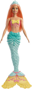 Barbie Dreamtopia Mermaid Doll, Approx. 12-Inch, Rainbow Tail, Coral Hair, for 3 to 7 Year Olds - Garrison City Toy Work's