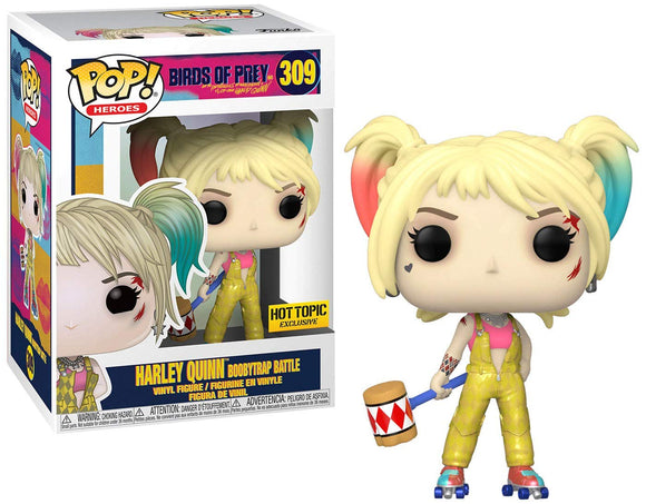 Funko POP! Heroes: Birds of Prey - Harley Quinn [Boobytrap Battle] #309 Exclusive - Garrison City Toy Work's