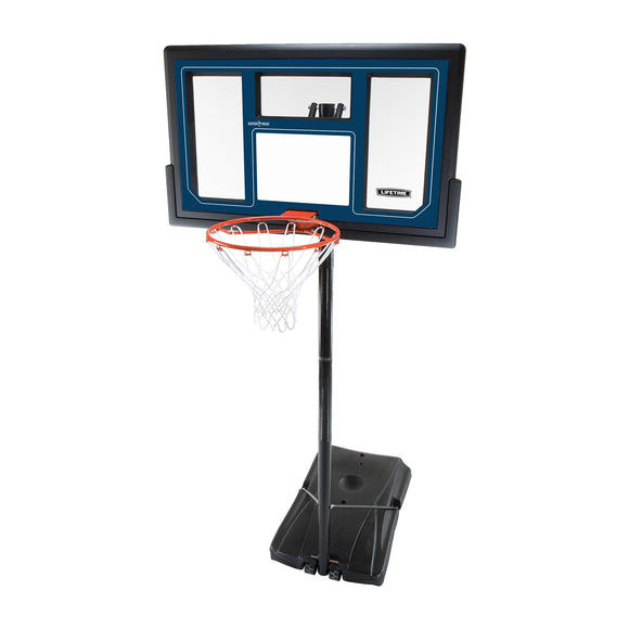 Lifetime 1529 Courtside Height Adjustable Portable Basketball System, 50 Inch Shatterproof Backboard - Garrison City Toy Work's