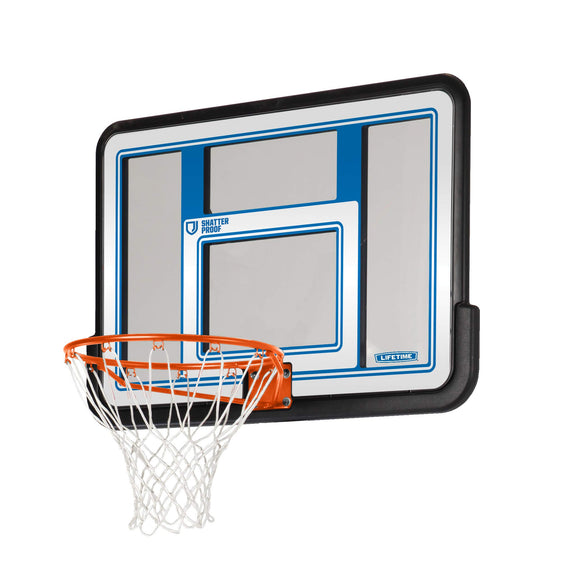 Lifetime 73650 44 Inch Shatterproof Backboard and Rim Combo Kit - Garrison City Toy Work's