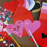 50 Sets Valentine's Day Cards with Envelopes Blank Hearts Cutouts Note Cards - Garrison City Toy Work's