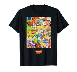 Group Shot Center Square All 90s Characters T-Shirt - Garrison City Toy Work's