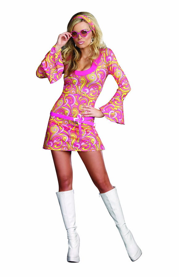 Dreamgirl Women's Go Go Gorgeous Costume, Multi, Medium - Garrison City Toy Work's
