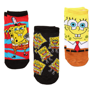 SpongeBob SquarePants Laughing/Spatula/Face 3-Pack Low Cut Socks - Garrison City Toy Work's
