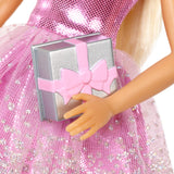 Barbie Happy Birthday Doll, Blonde, Wearing Sparkling Pink Party Dress with Present, Gift for 3 to 7 Year Olds - Garrison City Toy Work's