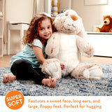 "Melissa & Doug Jumbo Burrow Bunny Rabbit Stuffed Animal (21"" Tall, Great Gift for Girls and Boys - Best for 2, 3, 4 Year Olds and Up) - Garrison City Toy Work's"