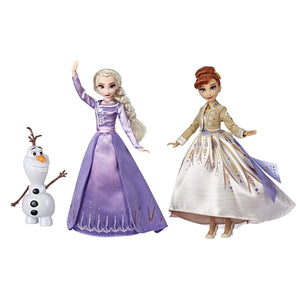 Frozen Disney Elsa, Anna, & Olaf Deluxe Fashion Doll Set with Premium Dresses - Garrison City Toy Work's