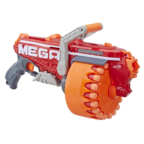 NERF Megalodon N-Strike Mega Toy Blaster with 20 Official Mega Whistler Darts - Garrison City Toy Work's