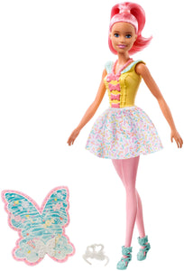 Barbie Dreamtopia Fairy Doll, Approx 12-Inch, with A Colorful Candy Theme, Pink Hair and Wings, for 3 to 7 Year Olds - Garrison City Toy Work's