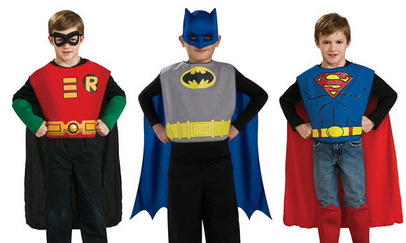 DC Comics Boys Action Trio Superhero Costume Set - Garrison City Toy Work's