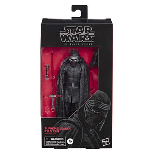 "Star Wars The Black Series Supreme Leader Kylo Ren Toy 6"" Scale The Rise of Skywalker Collectible Figure, Kids Ages 4 & Up - Garrison City Toy Work's"