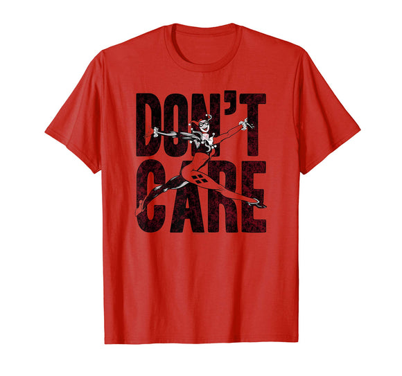 Harley Quinn Don't Care T-Shirt - Garrison City Toy Work's