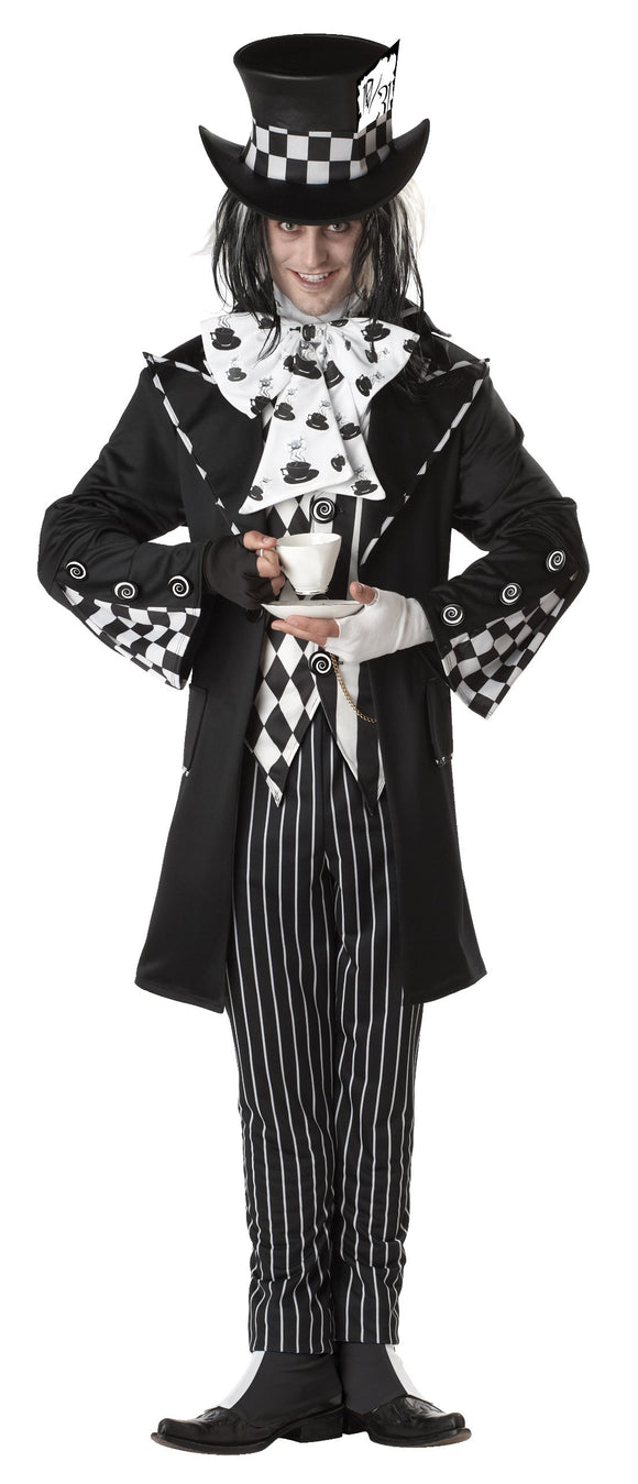 California Costumes Men's Dark Mad Hatter Costume,Multi,X-Large - Garrison City Toy Work's