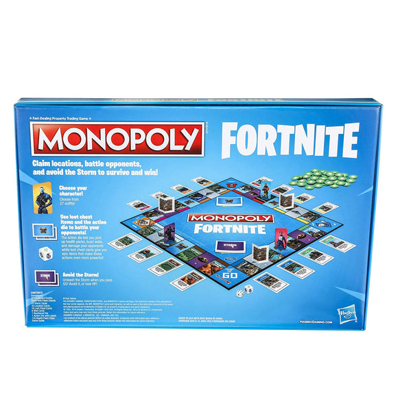Monopoly: Fortnite Edition Board Game Inspired by Fortnite Video Game Ages 13 and Up - Garrison City Toy Work's