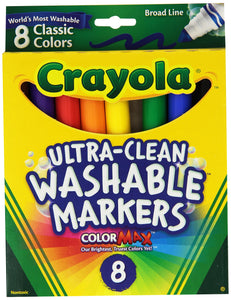 Crayola Broad Point Washable Markers - Pack of 2 (58-7808-2Pack) - Garrison City Toy Work's