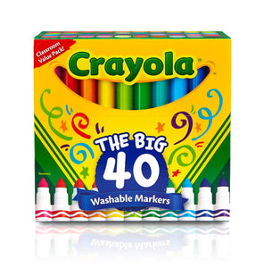 Crayola Ultra Clean Washable Broad Line Markers, 40 Classic Colors, Gift for Kids - Garrison City Toy Work's