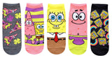 Hyp Spongebob Squarepants and Patrick Juniors/Womens 5 Pack Ankle Socks - Garrison City Toy Work's