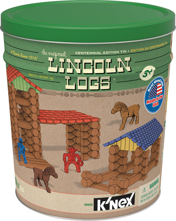LINCOLN LOGS Centennial Edition Tin (Amazon Exclusive) - Garrison City Toy Work's