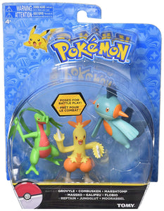 TOMY Pokemon 3 Pack - Grovyle, Combusken, Marshtomp - Garrison City Toy Work's