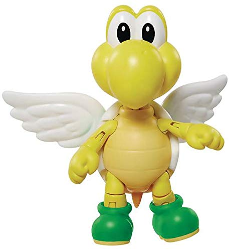 World of Nintendo 4-inch Green Shell Koopa Para Troopa with Wings Action Figure, 4