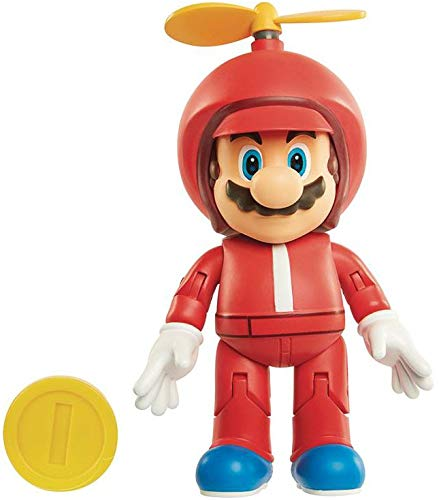 World of Nintendo 4-inch Propeller Mario Action Figure with Coin, 4
