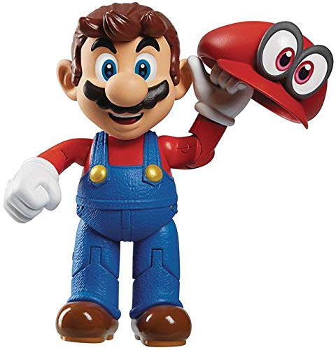 World of Nintendo 4-inch Mario Odyssey Action Figure with Hat, 4