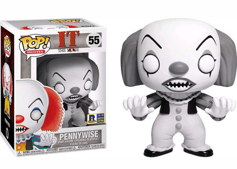 Pennywise Black & White RICC Exclusive Funko Pop Rhode Island Comic Con - Garrison City Toy Work's