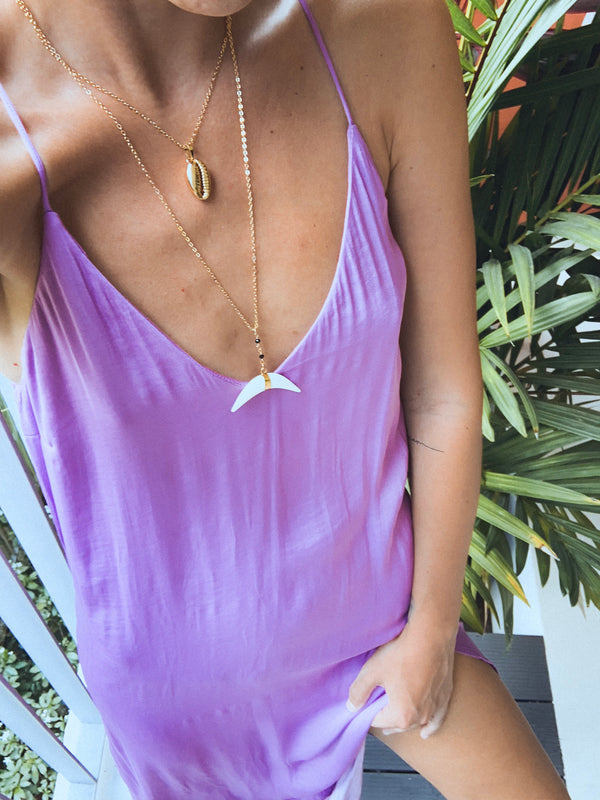 Naida Double Drop Necklace - Kaimana Jewelry