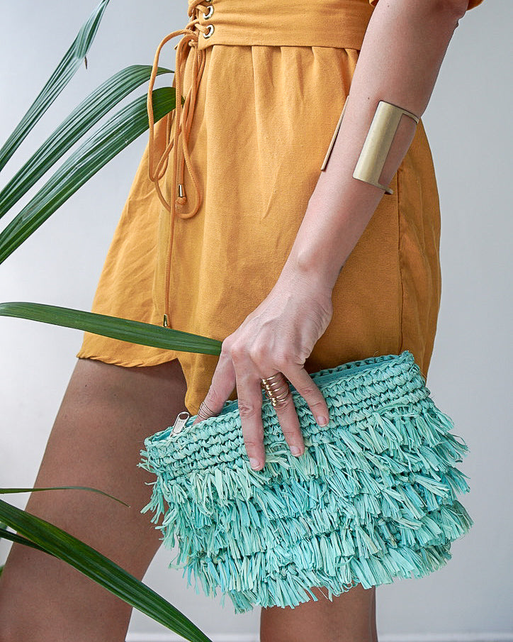 Straw Woven Clutch