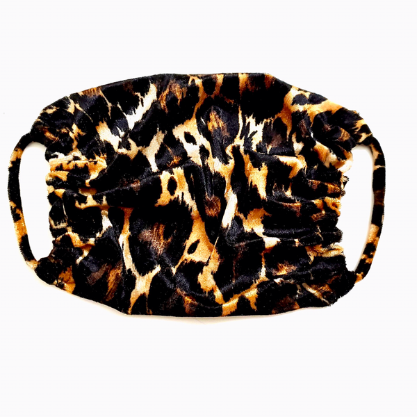 """CUTE AIN'T CANCELLED"" LEOPARD FACE MASK"