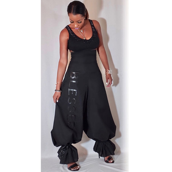 JP HARPER NYC PALAZZO PANTS, HIGH WAIST PANTS, BELL BOTTOM PANTS, WIDE LEG PANTS, BLACK PANTS, BLESSED PANTS