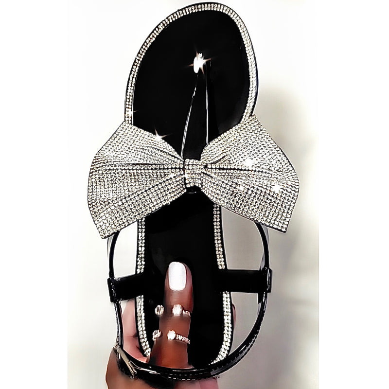 SHE GLITZY RHINESTONE | SANDALS