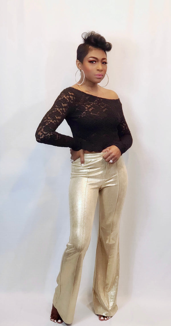 """LUXE GALORE"" BELL BOTTOM PANTS"