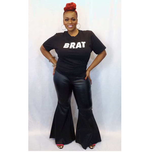 """ROCK THE BELLS"" EXTREME FLARE PANTS (Plus Size)"