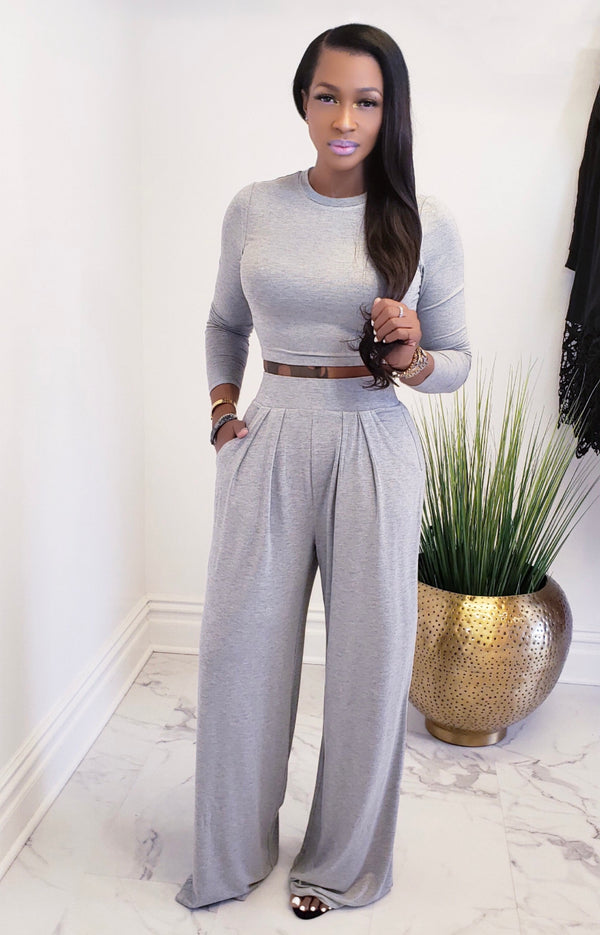 ON THE RUN | TWO PIECE PALAZZO SET